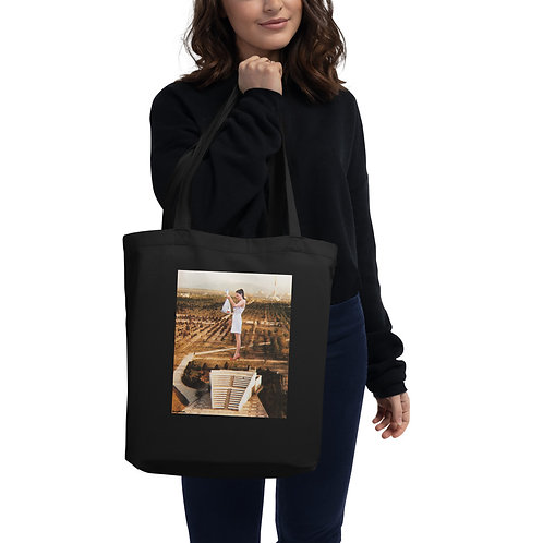 'Curious' Tote Bag With Print and Logo