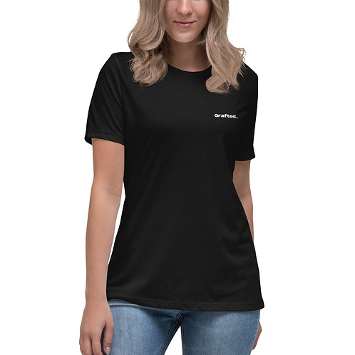 'Curious' Women's Relaxed T-Shirt With Back Print