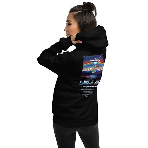 'Judgement Day' Unisex Hoodie with Back Print and Logo's