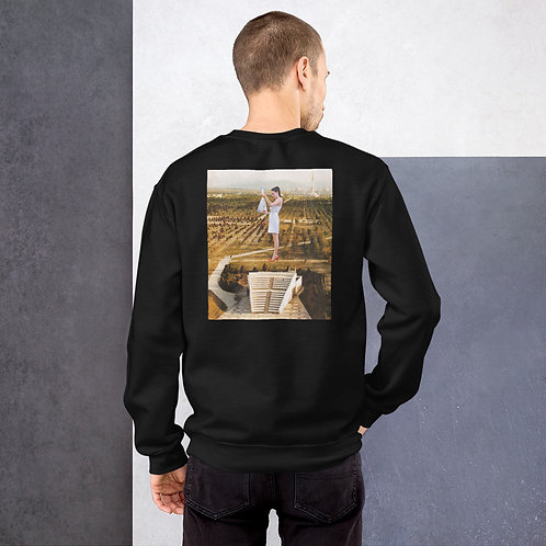 'Curious' Unisex Sweatshirt With Back Print and Logo