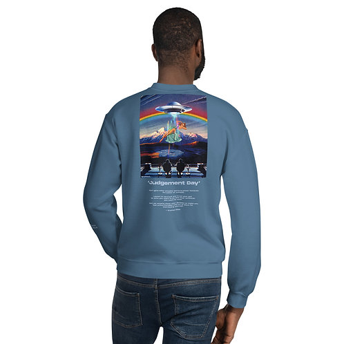 'Judgement Day' Unisex Sweatshirt With Back Print and Logo's