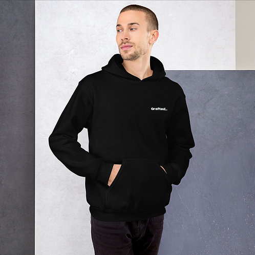 'Curious' Unisex Hoodie With Back Print and Logo