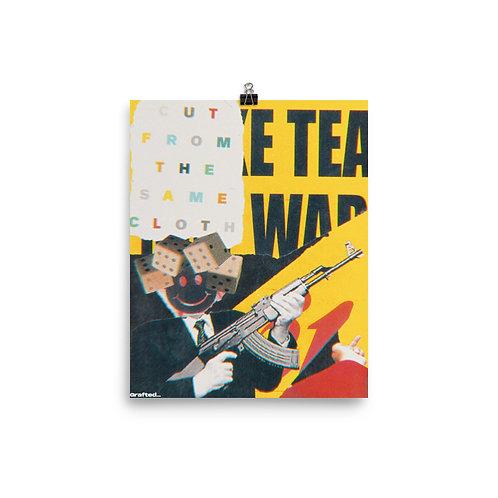 'Make Tea Not War' 8x10 Inch Print