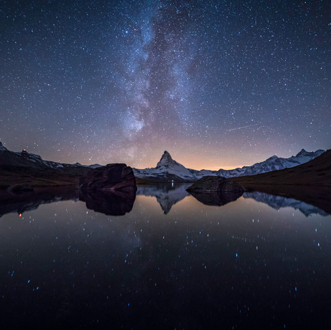 Milky Way over the Matterhorn