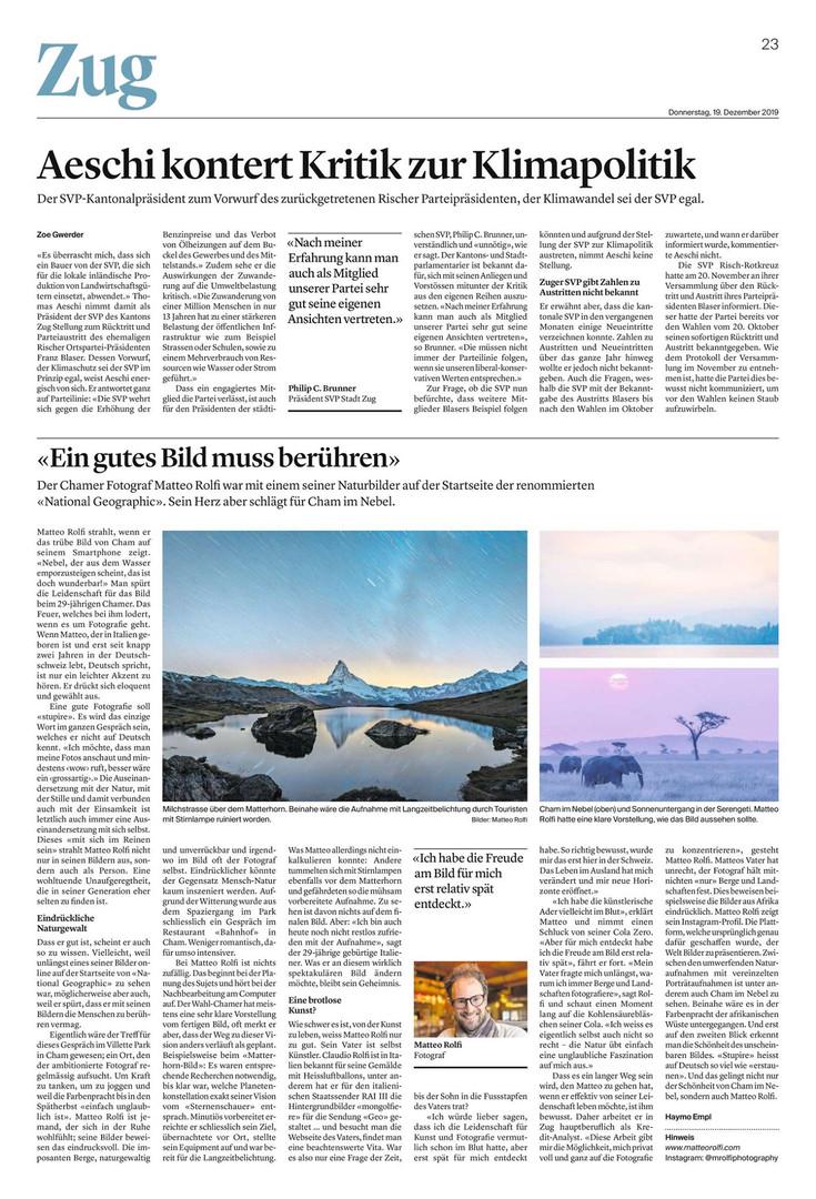 Zuger/Luzerner Zeitung