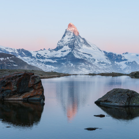 Sunrise in front of the Matterhorn