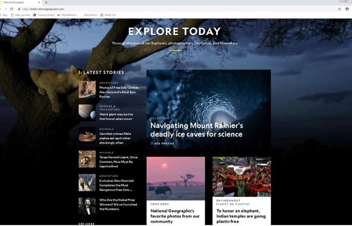 Natgeo homepage