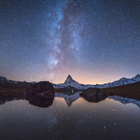 When The Milky Way kisses the Matterhorn