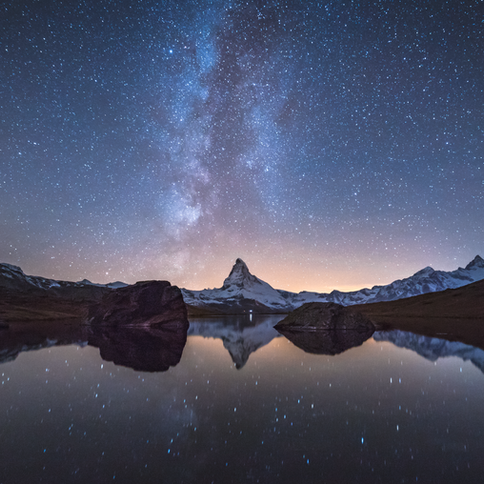When The Milky Way kisses the Matterhorn