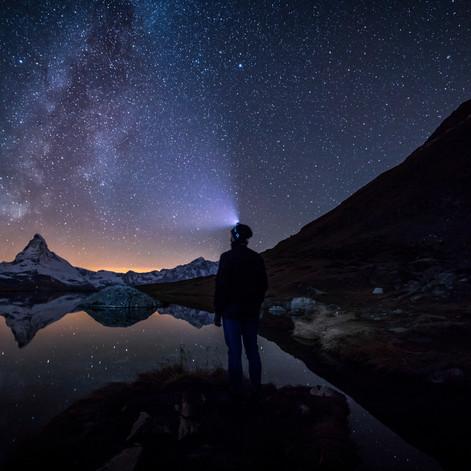 Milkyway in front of the Matterhorn