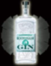 Gin Bottle & Shuttlecock Logo