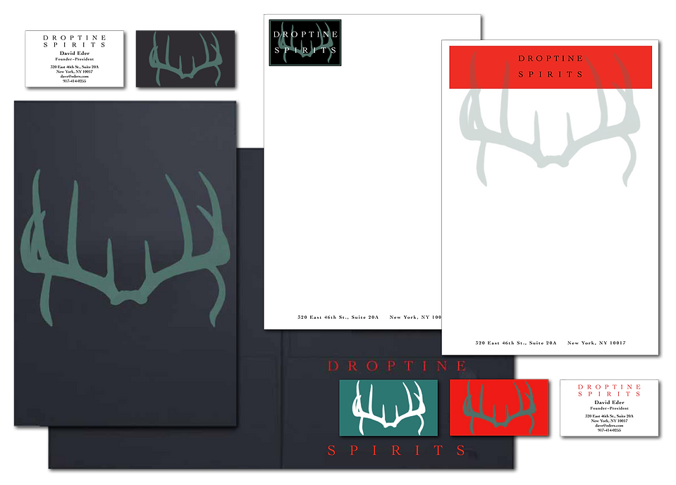 DROPTINE SPIRITS Brand Design Letterhead