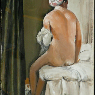 Study of Ingres' Valpinçon Bather