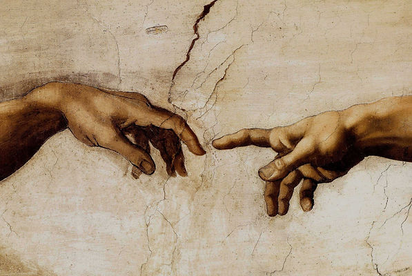 Sistine Chapel ceiling, Creation of Adam, by Michelangelo