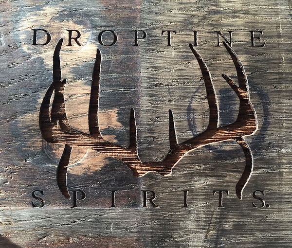 Droptine Spirits Logo on wood.jpg