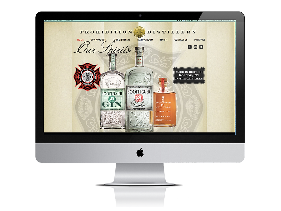 Prohibition Distillery website prohitiondistillery.com