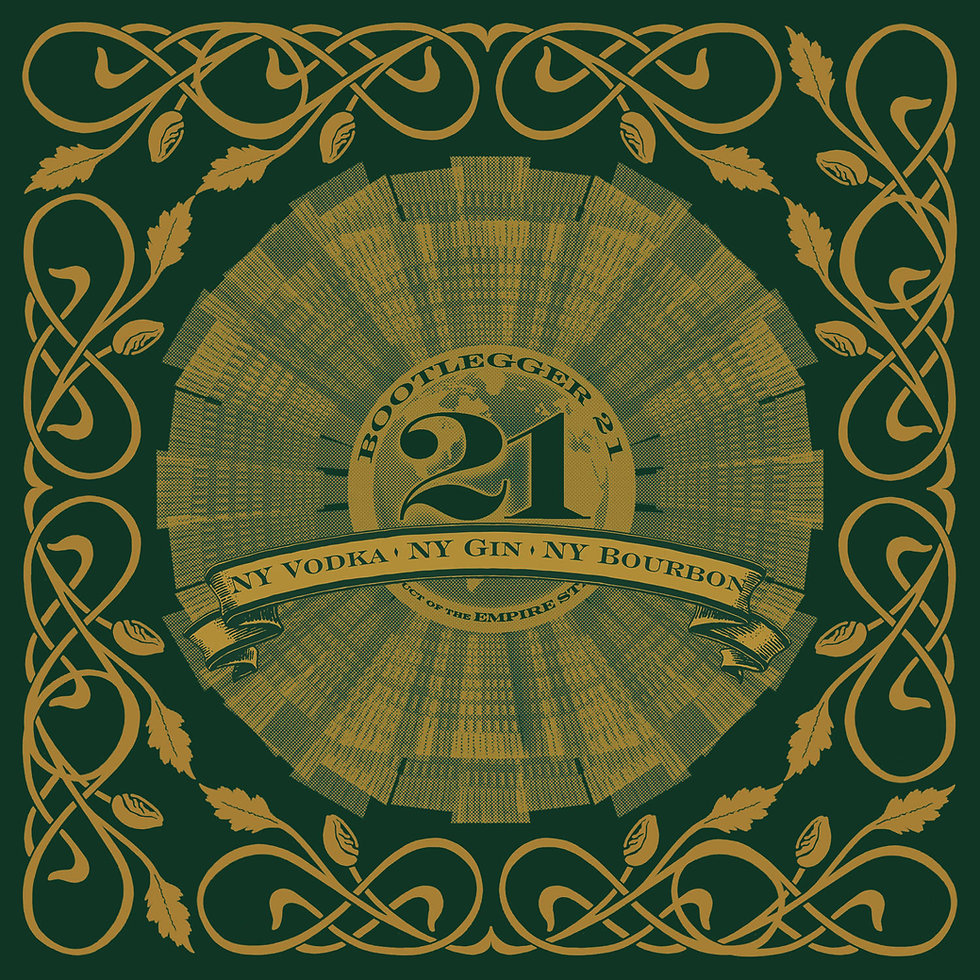 Prohibition Distillery's Bootlegger 21 Logo