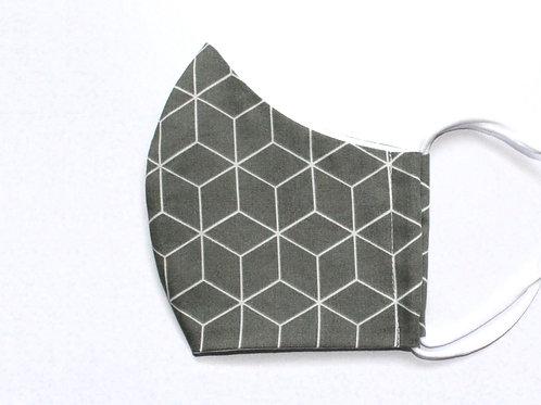 Geometric olivgrün Maske