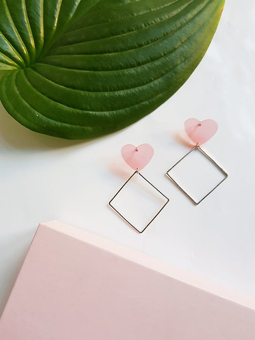 Rosy Hearts Earrings