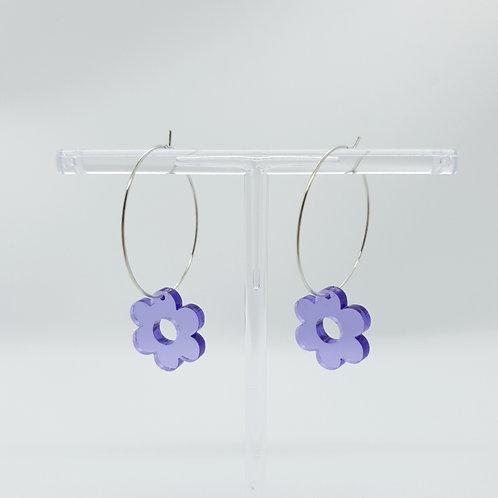 Primrose Big Hoops lila
