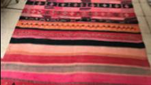 MR MELALIA flat rug ,100% wool, vintage