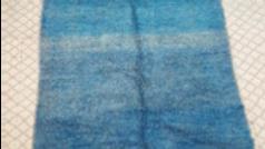 MR Mrirt rug, 100 % wool, vintage blue