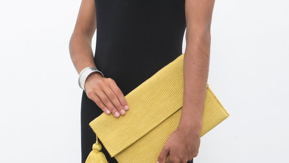 Gold Clutch Large with Tassel