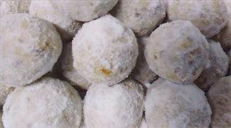 snow ball natal christmas cookies