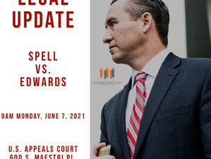 Pastor Spell's Hearing Moved to New Orleans June 7, 2021