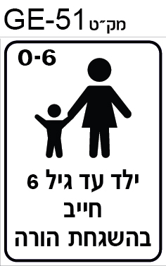 ילד עד גיל 6 חייב בליווי מבוגר