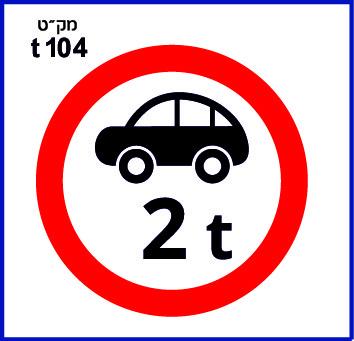 תמרורים אזהרה ואיסור בגובה t104