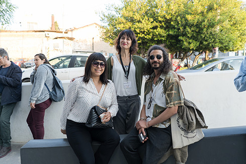 Artemis Livadarou Founder of i.P.A.S. with Malika Zairi director of Assia and Faical Ben director of Ales
