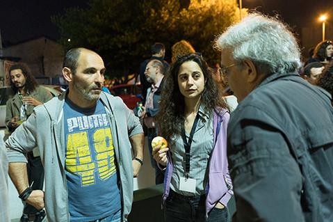 Giorgos Kritikos Technincial of i.P.A.S. with the i.P.A.S. director Penia Kalofolia
