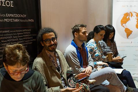 Faical Ben, Joli and Betty Mayers, Malika Zairi waiting the screenings to start
