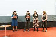 Penia Kalofolia, director of i.P.A.S. Film Festival - Maria Koliopoulou, Co-ordinator and Lia Stamopoulou, member of The Default Project