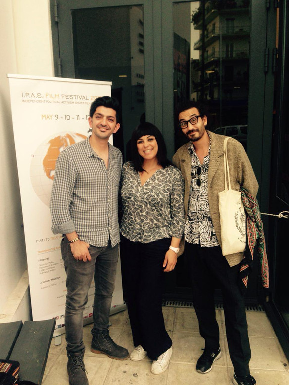 Hamed Jalali represtentor of the film Gloomy Green, Malika Zairi director of the film Assia and Faical Ben director of film Ales
