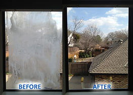 Foggy Window Glass Replaced with new clear glass