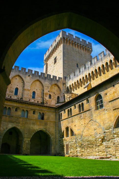 Palais des Papes Inner Lawn; Avignon