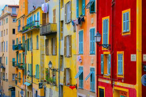 Quarter-View of Rue Rossetti; Nice