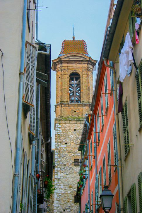 Bell Tower of Cathedral Ste-Reparate; Nice