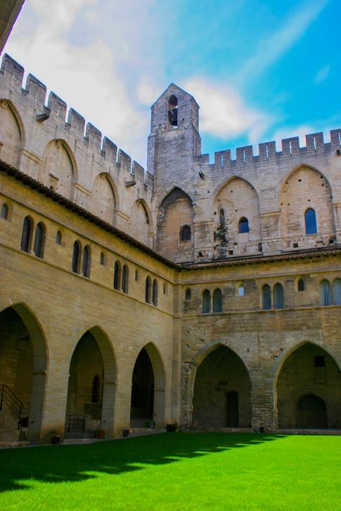 Palais des Papes Grand Courtyard; Avignon