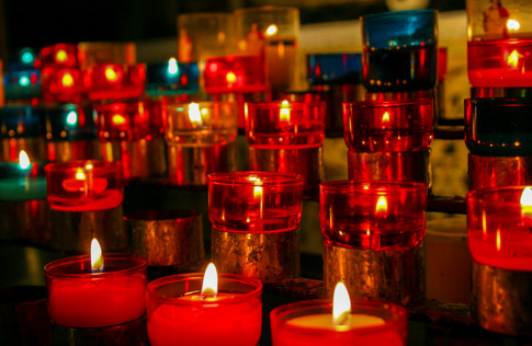Votive Candles; Cathedral Ste-Reparate