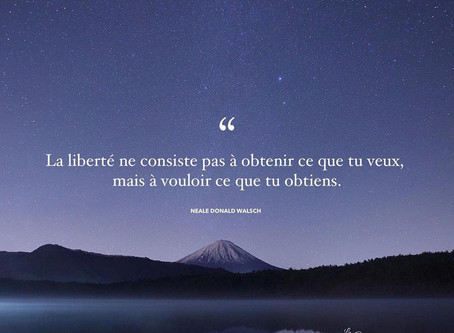 La liberté...