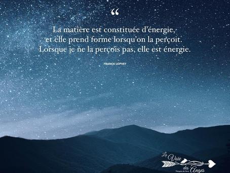 La matière et l'énergie...