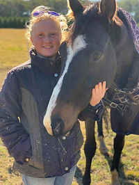 Emelia Campbell and Bay gelding horse