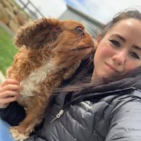 Chenelle Tregannon and Ruby the King Charles Cavalier