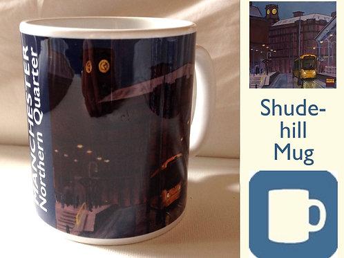 Mug: Shudehill Metro Station in Manchester's NQ