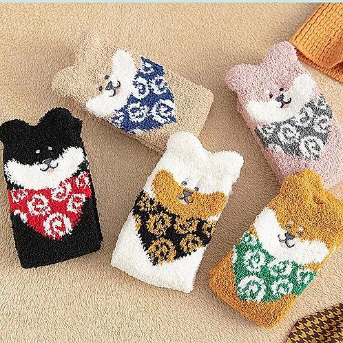 秋冬柴犬襪