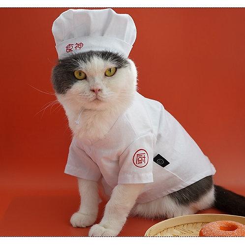 食神衣服+帽子寵物衣服(貓狗適用)