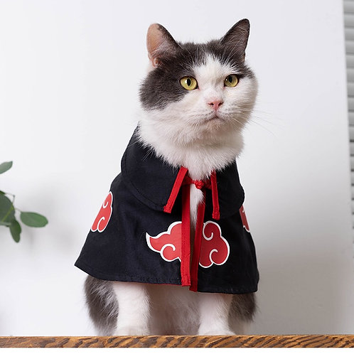 火影忍者-曉披肩 寵物衣服(貓狗適用)